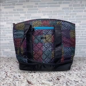 Lug Scooter Lunch Tote In Multi-Color Dots